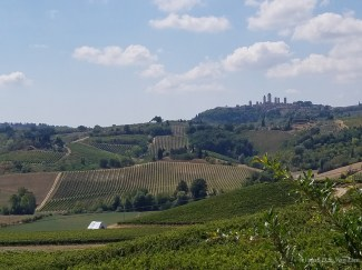 Tuscan Countryside with San Gimignano in the distance