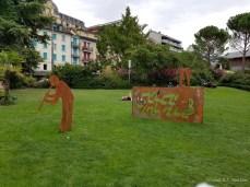 Artwork in Montreux, Switzerland