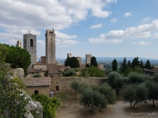San Gimignano from up on the old wall.