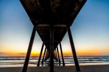 Sunset beneath the Pier