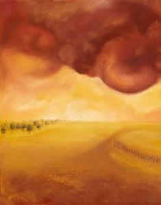 Red Field by Jaclyn Perrone
