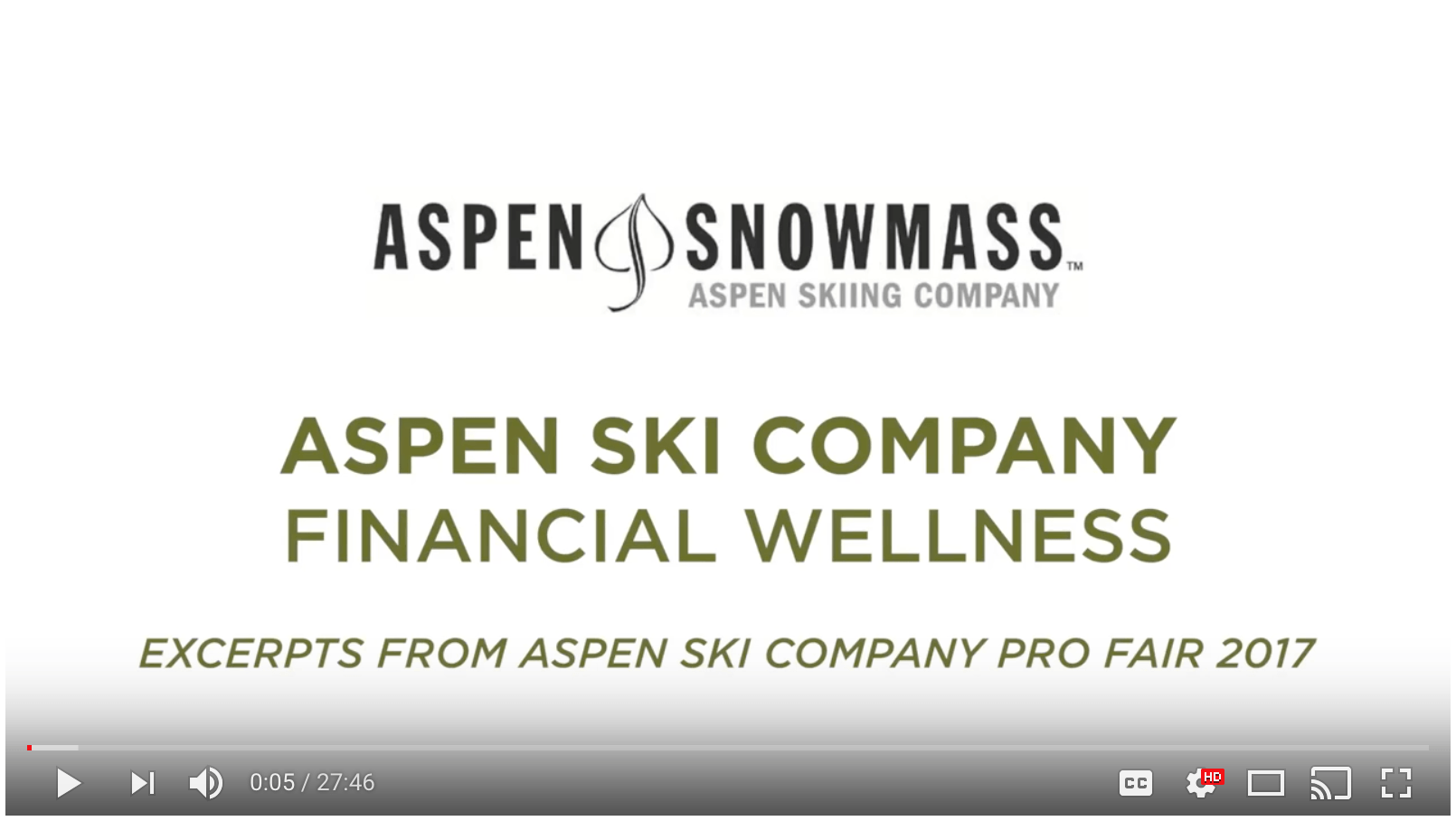 Danielle Howard Presents to the aspen ski company