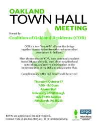 OPDC Oakland Town Hall Meeting Flyer Danielle Levsky