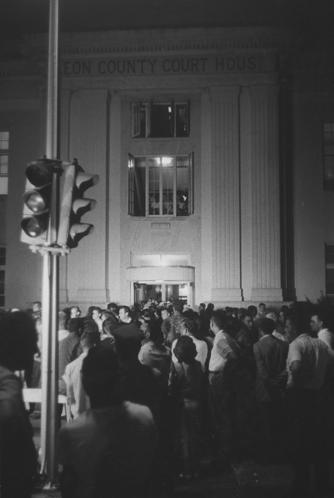 Spectators Outside Betty Jean Owens Rape Trial