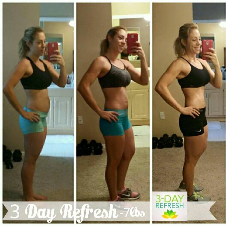 beachbody 3-day refresh results, down 7 pounds