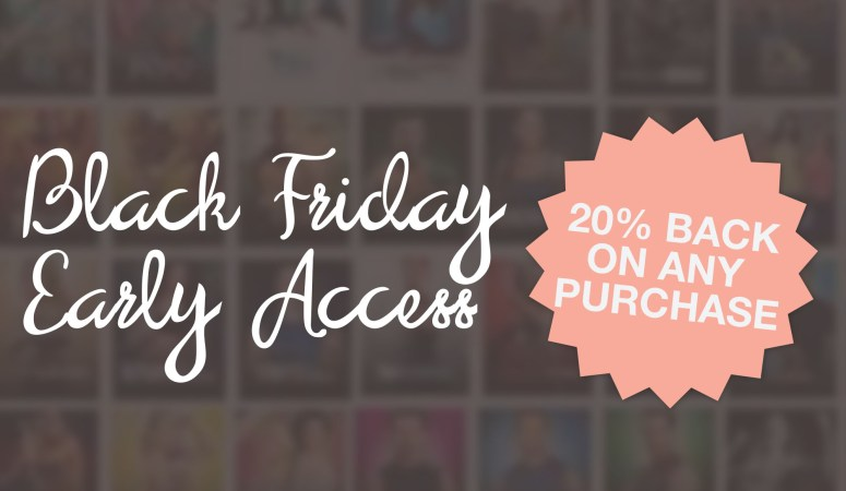 20% Back – My Gift to You This Black Friday