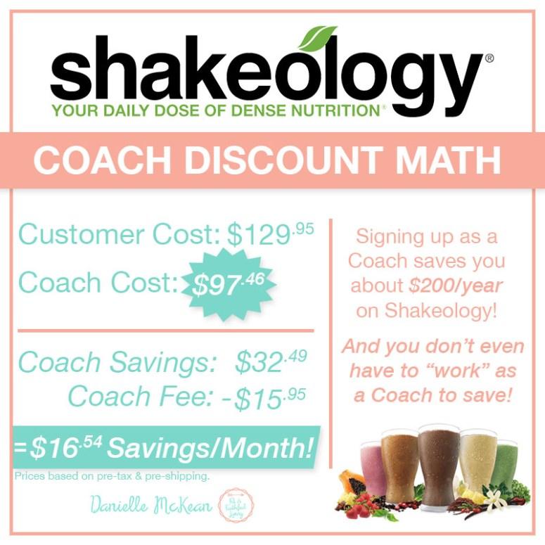 Shakeology Coach Discount Explained