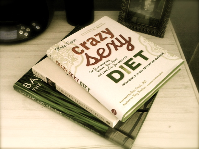Book stack Crazy, Sexy Diet – Kris Carr