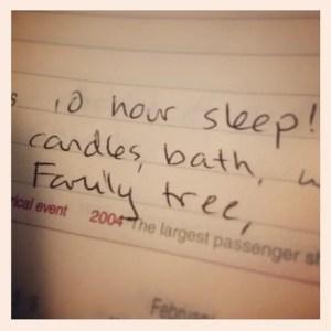 10 hour sleep - gratitude journal