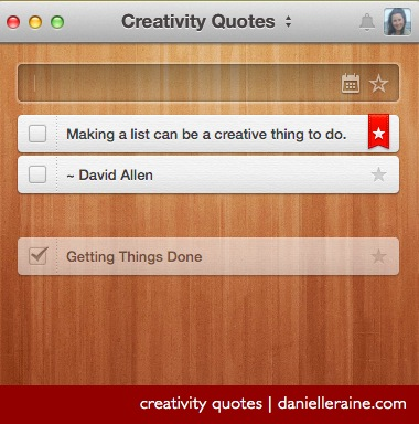 making a list is a creative thing to do david allen quote
