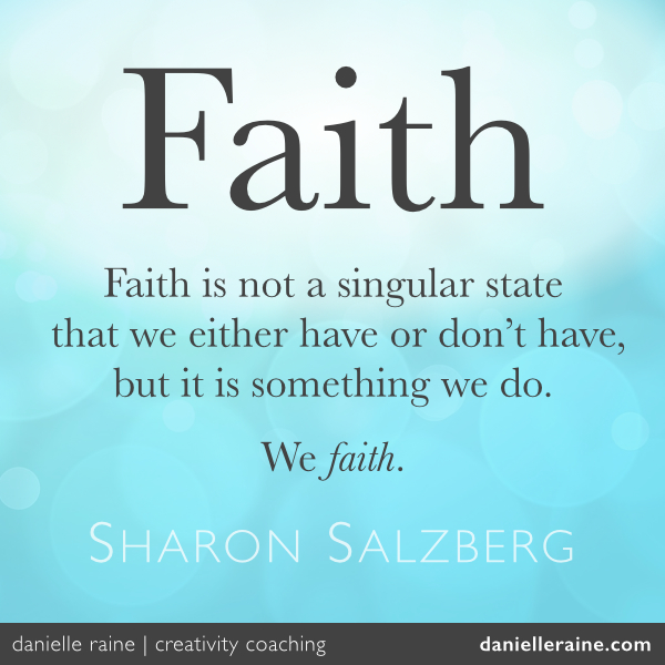 Faith quote - Sharon Salzberg