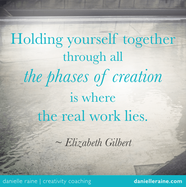 Liz Gilbert creativity quote