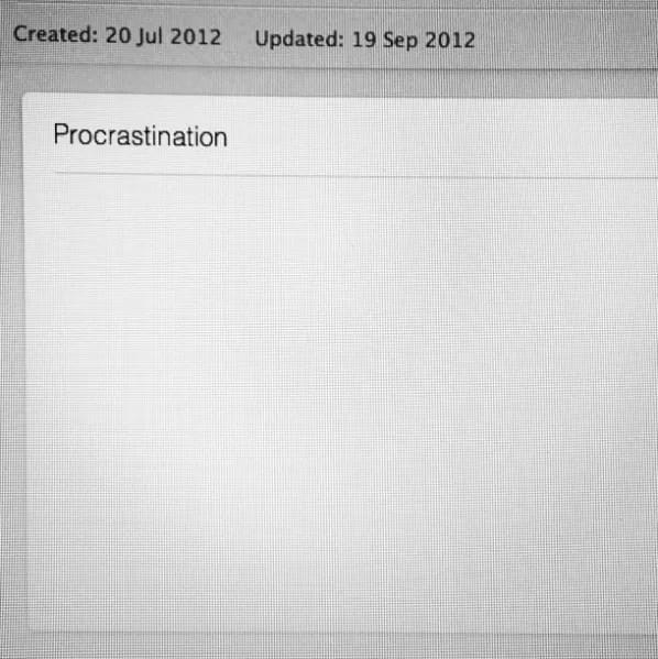 procrastination writer evernote