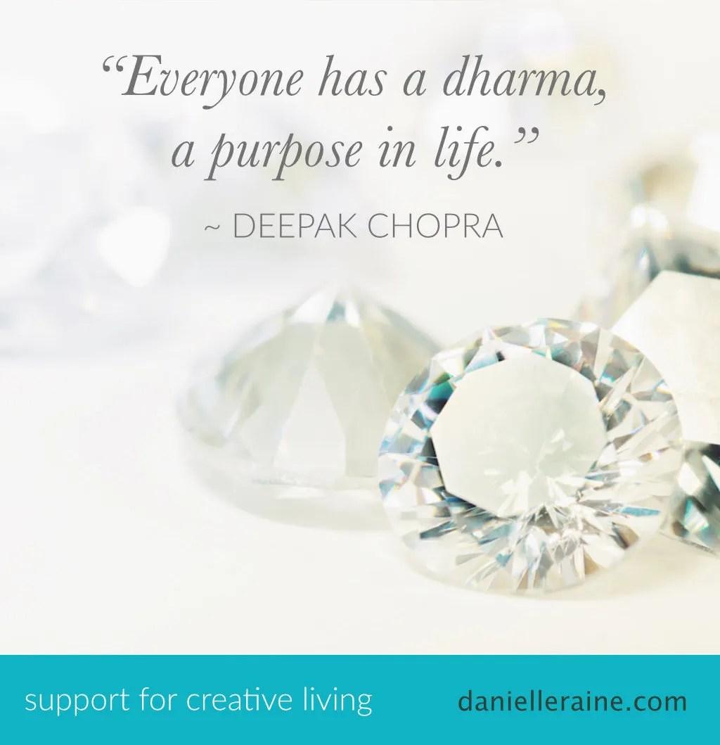 what is dharma deepak chopra law of dharma quote