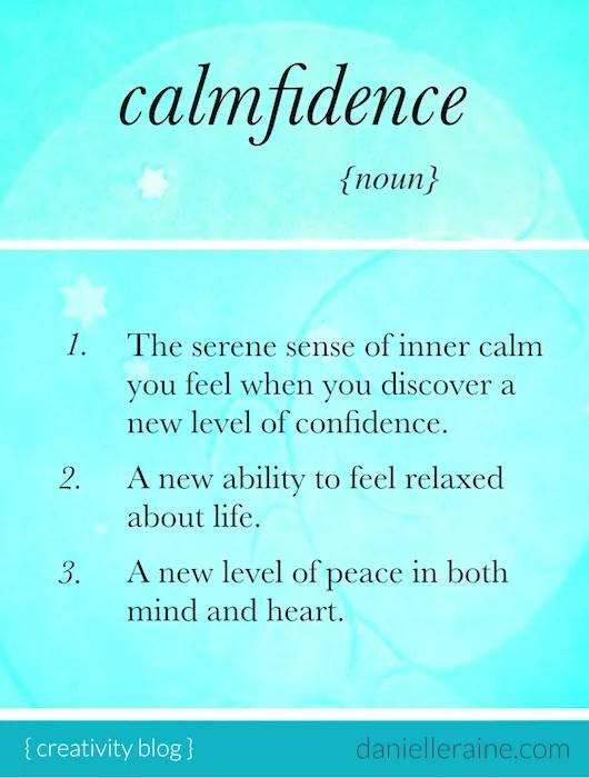 calmfidence definition clarity confidence and calm