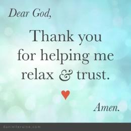 Gratitude prayer to Relax & Trust