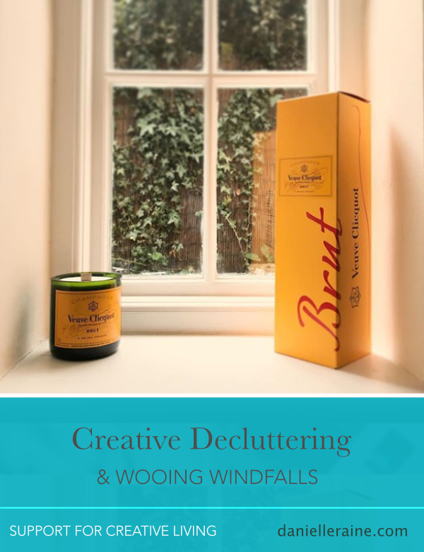 creative decluttering wooing windfalls danielle raine creativity coaching blog