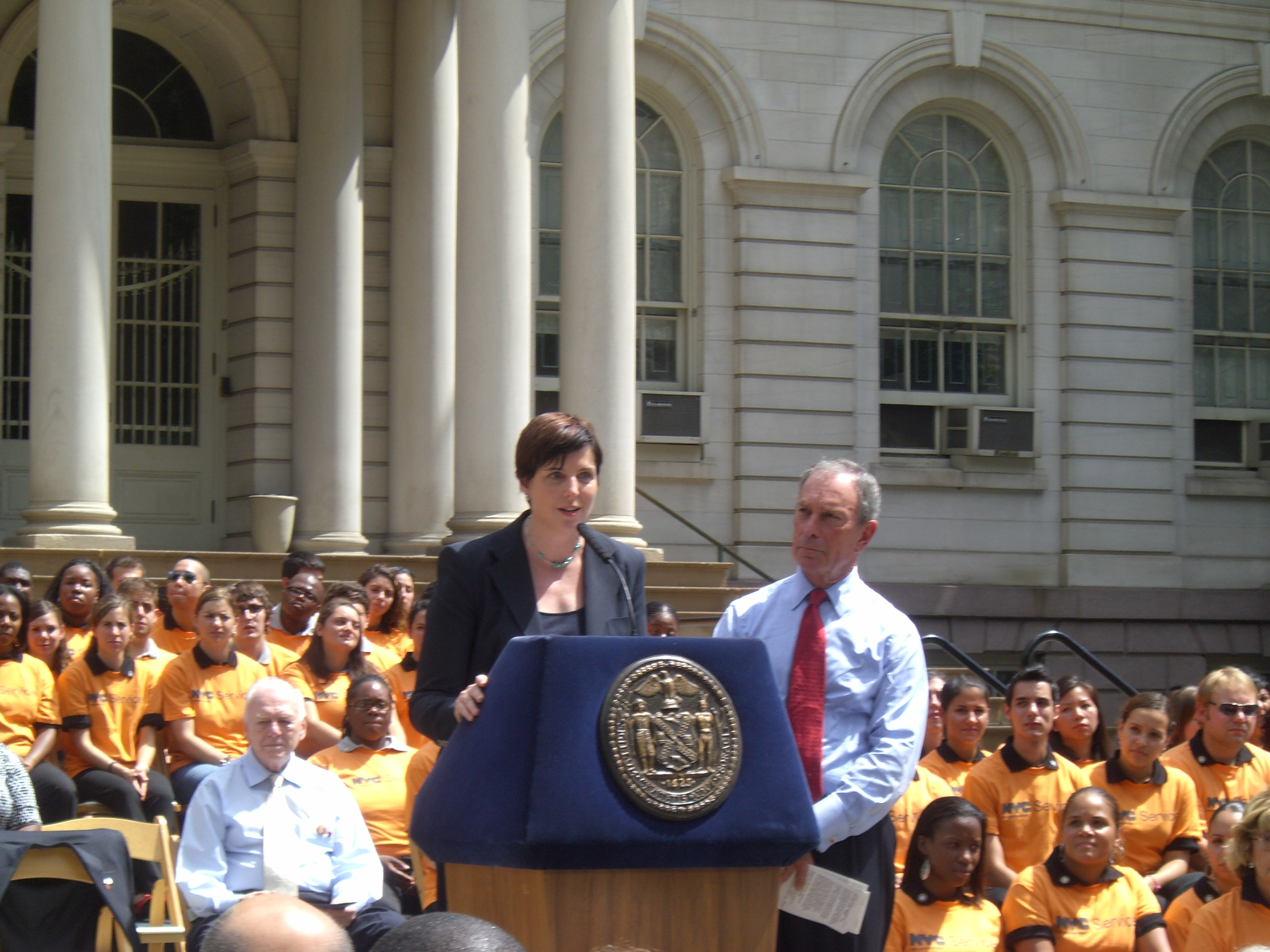 NYC Mayor Michael R. Bloomberg and Corp for Nat'l Community Service Acting CEO Nicola Goren