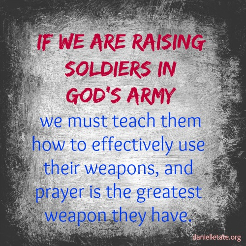 The greatest weapon we have is prayer in the name of Jesus