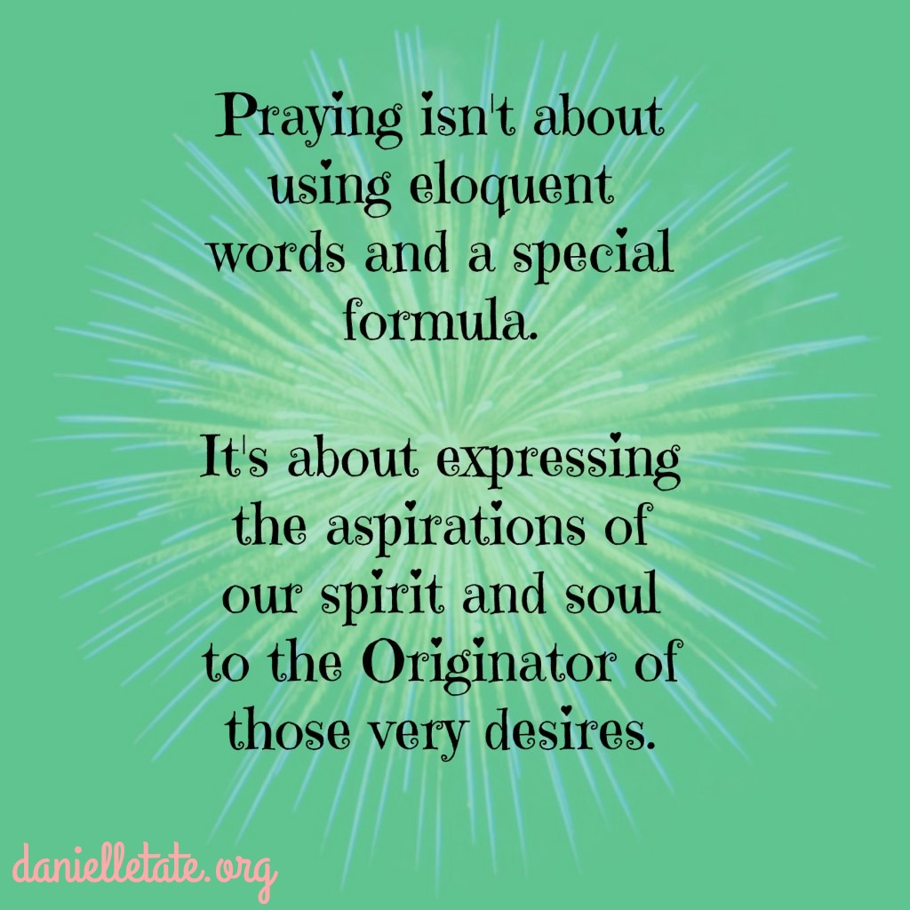 prayer is not a formula