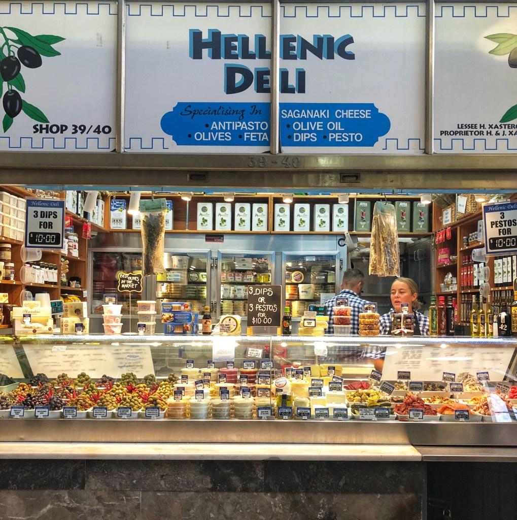 the ultimate foodie tour queen victoria market melbourne lifestyle blogger danielle vella to do in victoria greek food hellenic deli