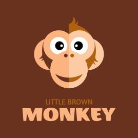 Logo design thumbnail for Little Brown Monkey