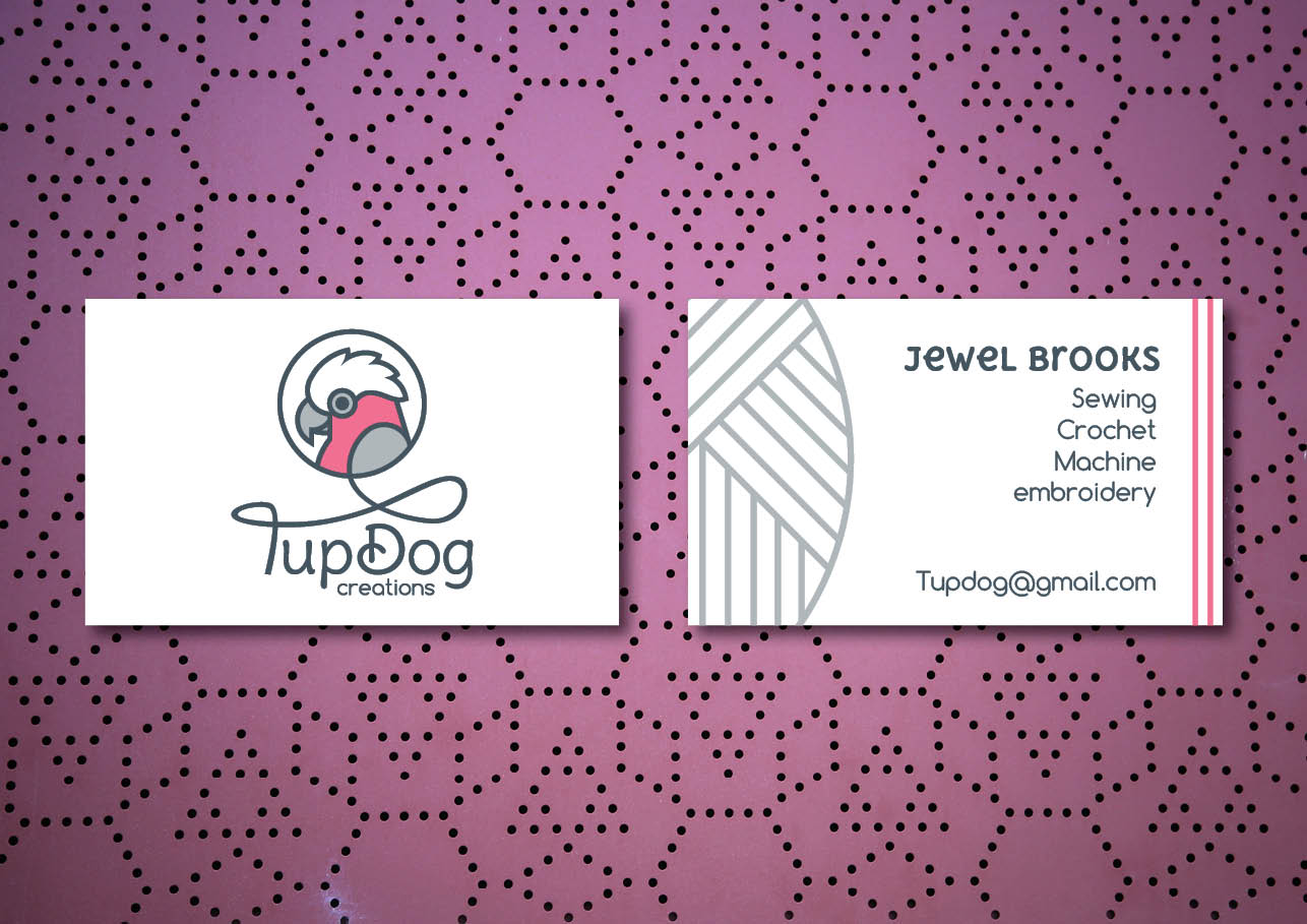 Business card design for TupDog Creations