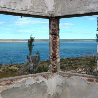 Bâtiment en ruine en Patagonie Argentine