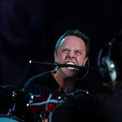 Lars Ulrich et Metallica en concert au Parc des Princes