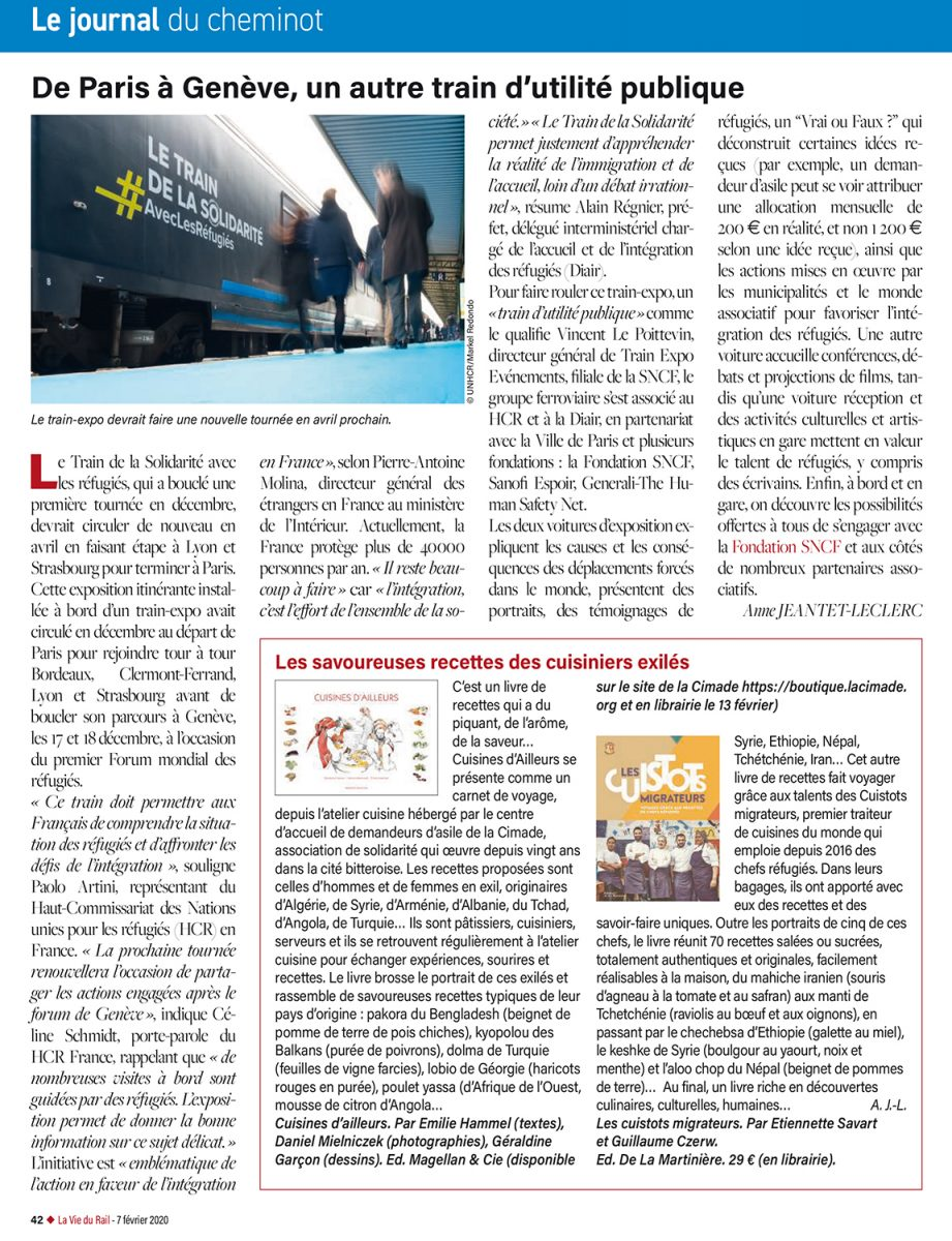 """""""Cuisines D'ailleurs"""" dans """"La Vie du Rail"""""""