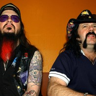 Dimebag Darrell & Vinnie Paul backstage au Trabendo
