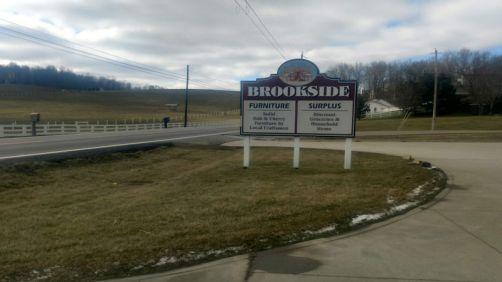 Brookside Surplus sign