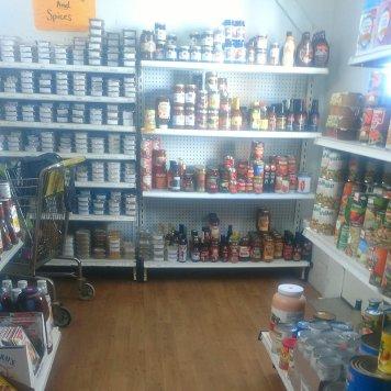 Prairie Lane bulk foods shelf