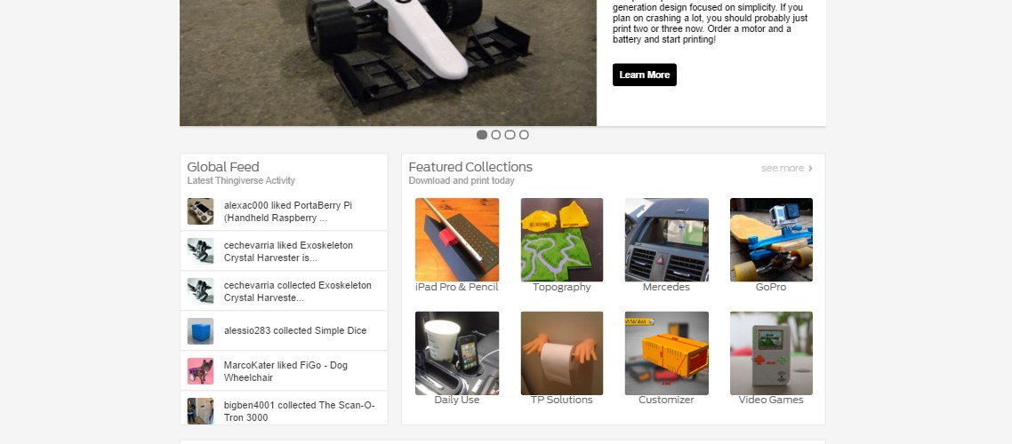 OpenRC F1 featured on Thingiverse - Daniel Norée