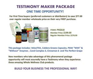 Testimony Maker Package