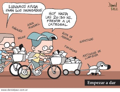 """ayuda-inundados-2"" por Daniel Paz"