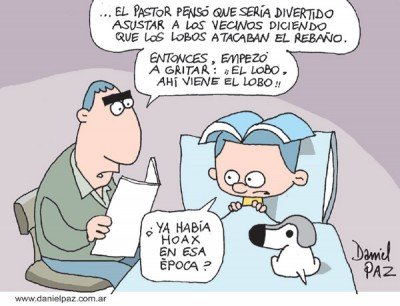"""""""hoax"""" por Daniel Paz"""
