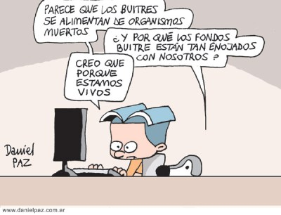 """""""fondos buitre"""" por Daniel Paz"""