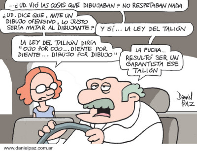 """ley del talion"" por Daniel Paz"