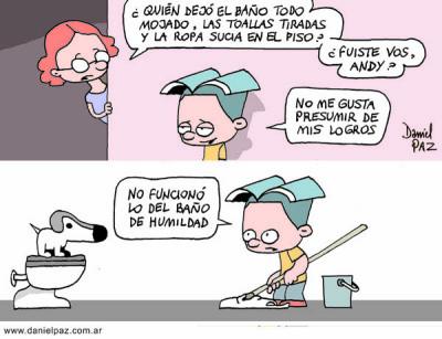 """""""baño de humildad"""" por Daniel Paz"""