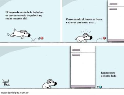 """""""detrás de la heladera"""" por Daniel Paz"""