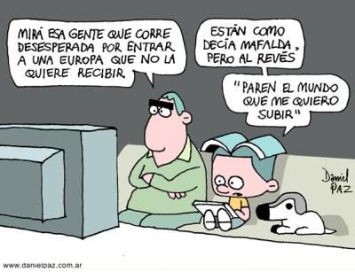 """paren el mundo"" por Daniel Paz"