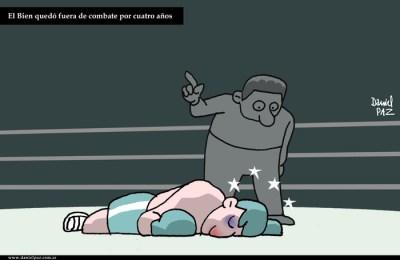 """fuera de combate"" por Daniel Paz"