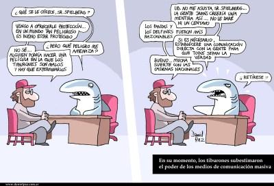 """tiburones vs spielberg"" por Daniel Paz"