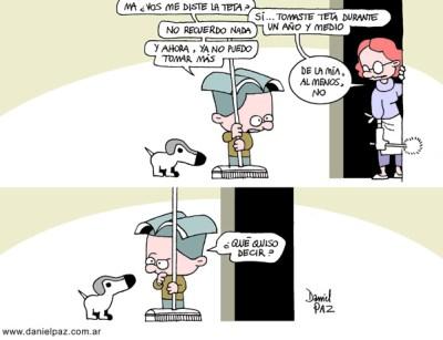"""""""tomar la teta"""" por Daniel Paz"""