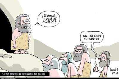 """""""oposición del pulgar"""" por Daniel Paz"""