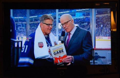 Dancing Gabe with Scott Oake, Sportsnet Hockey Night in Canada