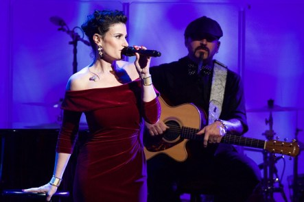 BEVERLY HILLS, CA - OCTOBER 08: Actress/singer Idina Menzel performs onstage at the 2016 Carousel Of Hope Ball at The Beverly Hilton Hotel on October 8, 2016 in Beverly Hills, California. (Photo by Earl Gibson III/WireImage)