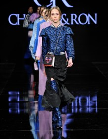 BEVERLY HILLS, CA - MARCH 15: A model walks the runway wearing Charles and Ron at The Beverly Hilton Hotel on March 15, 2017 in Beverly Hills, California. (Photo by Arun Nevader/Getty Images)