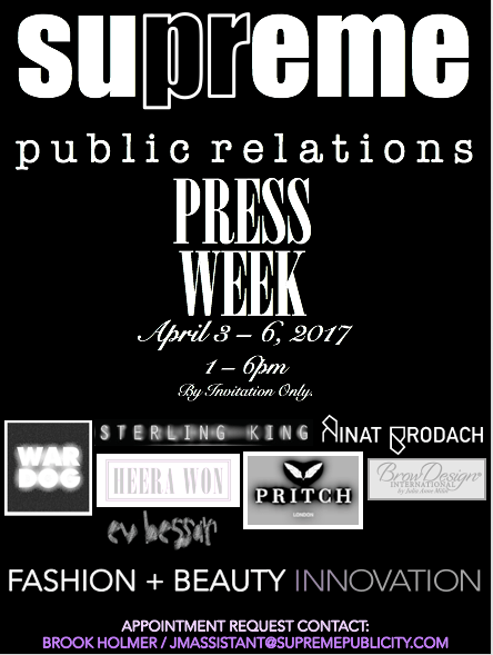 Supreme PR Press Week 2017